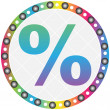 Web button with percent on it — Stock Vector #7923274