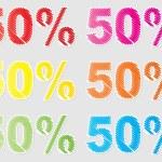 Fifty percent discount — Stock Vector #7923630