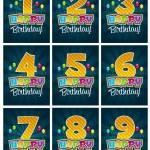 Happy Birthday Numbers — Stock Vector #10545788