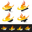Swoosh Flame Currency Symbols — Stock Vector #10726712