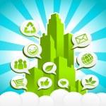 Green Eco City — Stock Vector #12843617