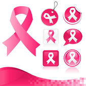 Pink Ribbons Kit — Vector de stock