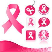 粉红丝带工具包 — 图库矢量图片
