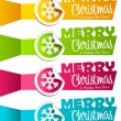 Christmas Banners with Snowflakes — Stock Vector