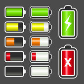 Battery Level Indicator Kit — Stock Vector