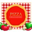Pizza Menu Restaurant — Stock Vector #15623383