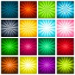 Colorful Bursting Backgrounds — Stock Vector