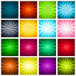 Stock Vector: Colorful Bursting Backgrounds
