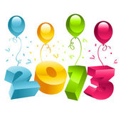 New Year 3D 2013 Greeting Card — Stock Vector