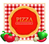 Pizza Menu Restaurant — Stock Vector