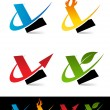 Swoosh Alphabet Icons L — Stock Vector