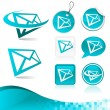 Email Letter Icon Kit — Stock Vector