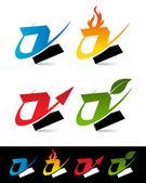 Swoosh Alphabet Icons Z — Stock Vector