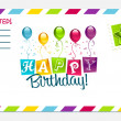 Happy Birthday Invitation Card — Stock Vector