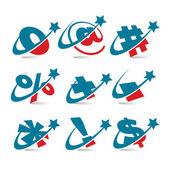 Swoosh Patriotic Symbols — Stock Vector