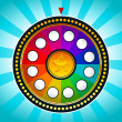 Colorful Wheel of Fortune — Imagen vectorial