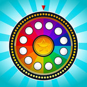 Colorful Wheel of Fortune — Stock Vector