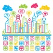 Social Media City — Stock Vector #22765636