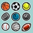 Sport Ball Icons - Stock Vector