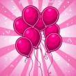 Royalty-Free Stock Vector Image: Pink Party Balloons