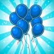Royalty-Free Stock Vector Image: Blue Party Balloons