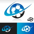 Swoosh Soccer Ball Icon — Stock Vector