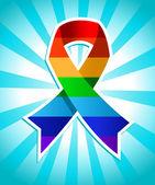 Rainbow Pride Ribbon — Stock Vector