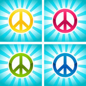 Colorful Peace Signs — Stock Vector