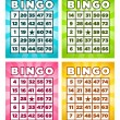 Bingo Cards — Stock Vector