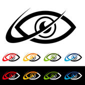 Swoosh Eye Icons — Stock Vector