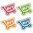 Shopping Cart Tags — Stock Vector