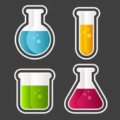 Test Tube Icons — Stock Vector