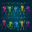 Party Skeletons - Stock Vector