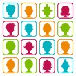 Colorful Man and Woman Avatars - Stock Vector