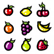 Colorful Fruit Icons — Stock Vector #27810213