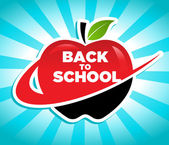 Back to School Apple Icon — Stock Vector