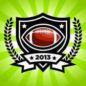Vector American Football Emblem — Stock Vector