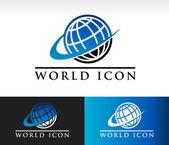 Swoosh World Icon — Stock Vector