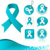 Blue Ribbons Awareness Kit — Stock Vector
