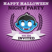 Invitation de fête halloween heureux — Vecteur