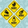 Stock Vector: Vector Baby on Board Signs