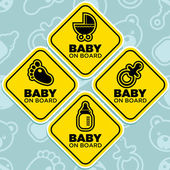 Vector Baby on Board Signs — Stock Vector