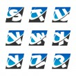 Swoosh Sport Alphabet Icons Set 3 — Stock Vector