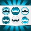Movember Mustache Awareness Buttons — Stock Vector