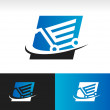 Swoosh Shopping Cart Icon — Stock Vector #32332813