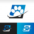 Swoosh Animal Paw Icon — Stock Vector #32332815