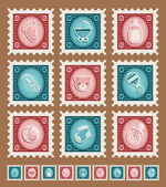 Baby Shower Stamps — Stockvektor