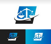 Swoosh Balance Scale Icon — Stock Vector