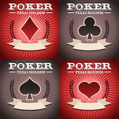 Set of Poker Backgrounds — Stock Vector