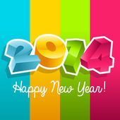 Colorful New Year 2014 — Stock Vector